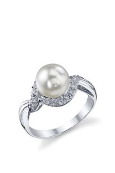 Radiance Pearl ring to represent Isabelle's birth month