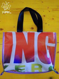 EcoBag urban bag borsa fatta a mano con teloni in di SoReadyLAB, €25.00