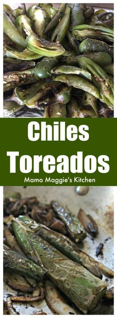 Chiles Toreados are easy-to-make and bring spice and flavor to any dish. Made with serrano peppers or jalapeños. They are usually found at Mexican taquerías or anywhere where tacos are served. by Mama Maggie's Kitchen via @maggieunz  We make these weekly and do a dozen at a time.