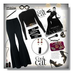 """""""Catwoman GG 😻 meow 💋"""" by selmendonca ❤ liked on Polyvore featuring Gucci, Yves Saint Laurent, STELLA McCARTNEY, Topshop and Chanel"""
