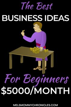 Are you finally ready to start your own business? This list will help you do that! Here is a list of the best small business ideas for women, teens, and men. The beauty of these business ideas is that they require little to no start-up costs and can be done at home. #businessideasforwomen Business Ideas For Beginners, Best Small Business Ideas, Business Tips, Make Money From Home, Make Money Online, How To Make Money, Own Your Own Business, Starting Your Own Business, Best Online Jobs