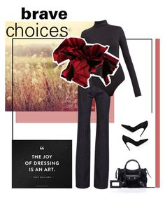 """Brave choices"" by firstboutique ❤ liked on Polyvore featuring Brian Atwood and Balenciaga"