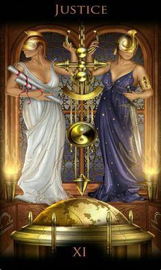 XI - La justice - Legacy of the Divine Tarot par Ciro Marchetti Ascendant Balance, Justice Tarot, Divine Tarot, All About Libra, Signo Libra, Lady Justice, Libra Women, Fantasy Cross Stitch, Earth Design