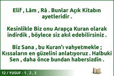 #ALLAH #KURAN #YUSUF  12 / YUSUF - 1 , 2 , 3