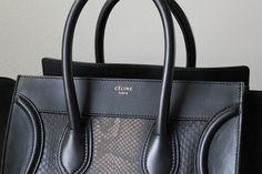 A snakeskin/black Celine? Givenchy, Balenciaga, Best Handbags, Luxury Handbags, Look Fashion, Fashion Bags, Celine Purse, Chanel, Louis Vuitton