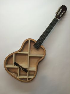 Guitar Shelf 34. Recycled acoustic guitar with by aRRtstudios
