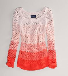 BLACK FRIDAY $33 American Eagle discount code:  35787891    AE Ombre Open Stitch Sweater