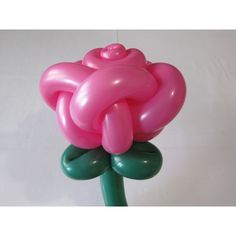 Rose bud of two balloons (five petals) - twisting tutorial (Subtitles)
