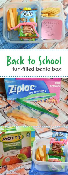 After you pick up your ZIPLOC® brand Bento Box at your local Target, the next thing to think about is what to pack in it! For easy, fun, and delicious inspiration your kids are sure to love, check out this back-to-school meal idea using Mott's Unsweetened Applesauce Pouches, NABISCO TEDDY Soft Bakes Soft Baked Filled Snacks, and fresh veggies in ZIPLOC® brand snack bags.