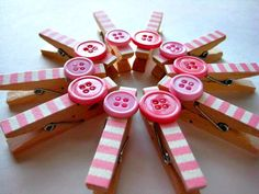 Elegant 10 Baby Shower Clothes Pins With Twine By ElephantKissed On Etsy, $9.00