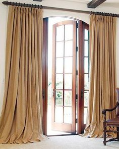 """PRICE IS $512.00 YOU PAY 1/2 DOWN $256.00 Burlap Drapes Lined 13 Colors Fits a Double Window or Door 2 Panels, Each Pleated up to about 50"""" wide"""