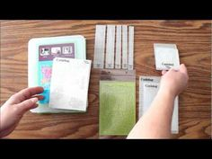 Video of Embossing Folders Comparison for Scrapbooking including folders from Cuttlebug,Sizzix,Spellbinders, and Tim Holtz.