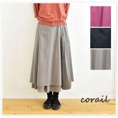 【corail コライユ】コットン カットオフ 二重 スカート(3103506) レディース ファッション 春夏 春コーデ