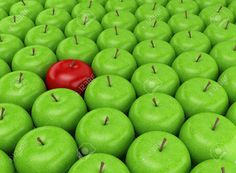 Taking a look at this photo, the first thing that jumps out is that lone red apple amongst all of those green apples. This is an example of the principle of dominance because of the contrast, the apple is small compared to the whole picture but it sticks out.