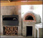 Pizza oven-braai combo