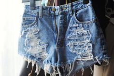 the perfect high waisted jean shorts