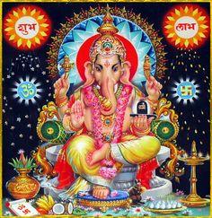 Durga Maa Paintings, Lord Ganesha Paintings, Shri Ganesh Images, Ganesha Pictures, Hindus, Jai Ganesh, Shree Ganesh, Ganesh Tattoo, Bal Krishna