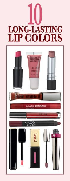 The 10 Most Unbelievably Long-Wearing Lip Colors: There was a time long-wearing lipstick had the consistency of Crayola markers—without the color selection. Happily, times have changed. Here, our favorites. Bridal Beauty, Wedding Beauty, Makeup Dupes, Lip Makeup, Beauty Secrets, Beauty Hacks, Beauty Products, Beauty Tips, Hair Beauty