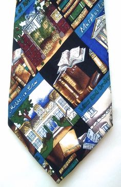 """Vintage Nicole Miller """"Law and Order"""" Silk Men's Necktie, Novelty Tie, Kitsch, Law Student, Legal by KitschArts on Etsy"""