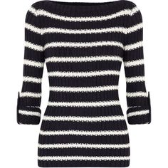 Tory Burch Lillian Chunky Knit Jumper ($350) ❤ liked on Polyvore
