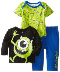 Disney Multi-Baby-Boys  Monsters 3 Piece Pant Set #Disney