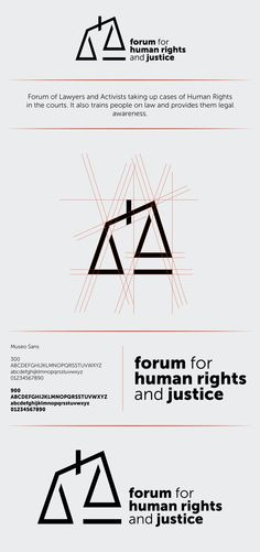 Forum for Human Rights and Justice | Identity Design by Sidharth Singh, via Behance More