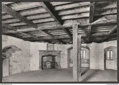 Garrison Mess Room, St Mawes Castle, Cornwall, c.1960s - Dept of Environment Postcard