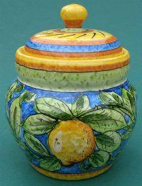 Augusta Italian Ceramic Garlic Jar