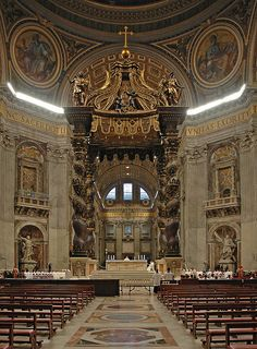 Churches and Cathedrals / St. Peter's Cathedral, Vatican City, Rome, Italy.