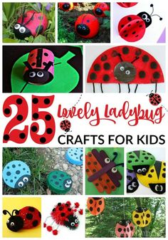 25 Lovely Ladybug Crafts For Kids Featured Tissue Paper Crafts, Paper Crafts For Kids, Easy Crafts For Kids, Craft Activities For Kids, Cute Crafts, Toddler Crafts, Crafts To Do, Art For Kids, Craft Ideas