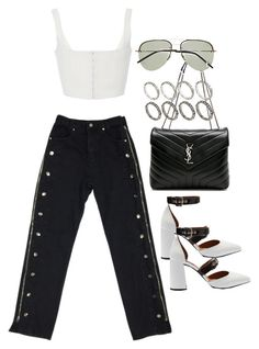 """""""Untitled #2544"""" by mariie00h ❤ liked on Polyvore featuring Yves Saint Laurent, Topshop and ASOS"""