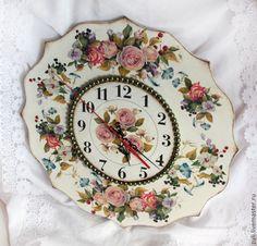 """Часы """"Королева Лета"""" - часы,часы настенные,часы интерьерные,часы декупаж"""