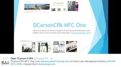 DCarsonCPA MFC One Lines on the Value in Context to Lean Management Consulting and Advisory Economics, Fails, Management, How To Apply, Make Mistakes, Finance