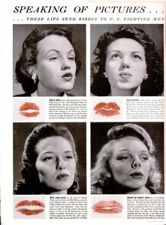 Lipstick kisses for letters to the 'boys'.  LIFE magazine, 7/20/1942. #vintage #WW2 #1940s