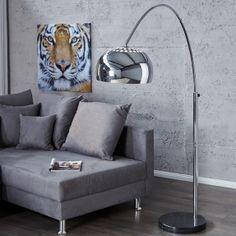 Bogenlampe LUXX Chrom glänzend 170-210cm Höhe portofrei günstig online bestellen cagü Design Möbel Onlineshop: Designermöbel versandkostenfrei günstig online kaufen