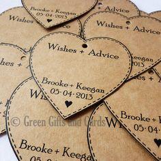 100 Large Heart Tags Kraft Brown Wishing Tree Cards Wedding Bomboniere Tags ♥ | eBay