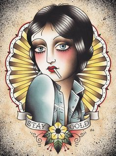 "Angelique Houtkamp ""Stay Gold"" Limited Edition Print"