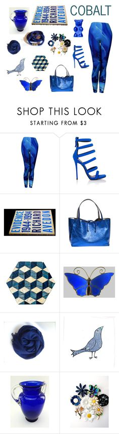 """COBALT"" by seasidecollectibles ❤ liked on Polyvore featuring SAM., Giuseppe Zanotti, Gianni Chiarini and vintage"
