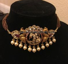Antique Pachi Choker with Peacocks