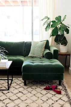 → Living room sofas on sale. My new green sofa - The House That Lars Built. My new green sofa - The House That Lars Built. Green Sofa, Room Inspiration, Emerald Green Sofa, Living Room Decor, Home Living Room, Couches Living Room, Decorating Blogs, Trendy Living Rooms, Sofa Design