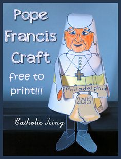 Pope Francis Craft- this ornament is free to print, and tons of fun to do for the upcoming Papal visit to the USA! :-)