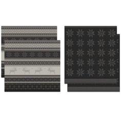 DDDDD Cove - Thee- en Keukendoeken Set - Red - 2 x 2 Stuks Grey, Prints, Gray