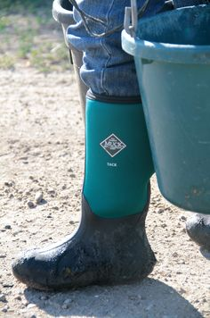 Easiest way to put on your Muck Boots? Roll down the upper first
