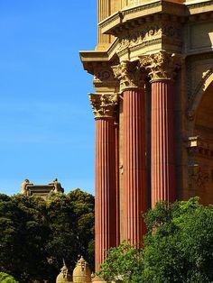 Palace Pillars - Palace Of Fine Arts, San Francisco, California