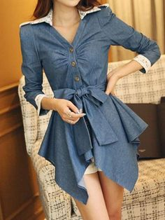 Admirable Casual Blended  Blouse Blouses from fashionmia.com
