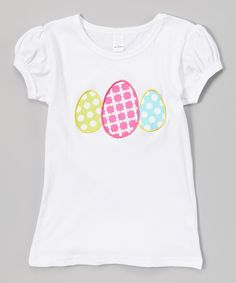Love this White & Pink Egg Puff-Sleeve Top - Infant, Toddler & Girls by Waistin' Away