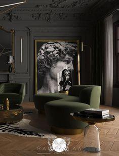 Classic Living Room, New Living Room, Living Room Interior, Living Room Decor, Modern Living, Lobby Interior, Luxury Living, Interior Ideas, Luxury Home Decor