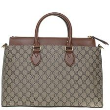 Gucci Leather Linea A Medium Coated Canvas Tote Phyllissmei Branded Bag