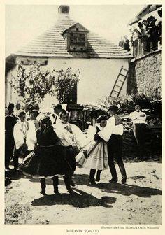 1921 Print Dance Children Moravia Slovaks Czech Republic Cityscape Fashion NGM2