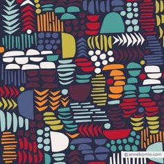 anne bomio - surface pattern, textile swiss designer